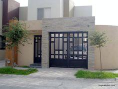 Puerta de herreria minimalista beautiful front doors for Casa minimalista uy