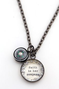faith is her compass [CNS30] - $35.00 : Beth Quinn Designs  , Romantic Inspirational Jewelry