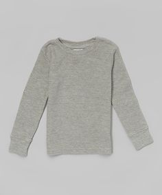 Love this Heather Gray Thermal - Infant & Boys by  on #zulily! #zulilyfinds