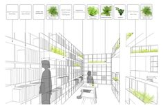 World Architecture Community News - Rongbaozhai Coffee Bookstore is changing the mode of reading by mixing it with coffee house Urban Agriculture, Urban Farming, Architecture Drawings, Architecture Portfolio, Indoor Farming, Construction Drawings, Book Cafe, Plan Drawing, Coffee And Books