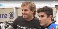 F1 Champ Nico Rosberg and MotoGO Champ Marc Marquez