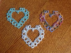 Sarah's Heart design in tatting - pattern by Teri Dusenbury. (Inspiration)