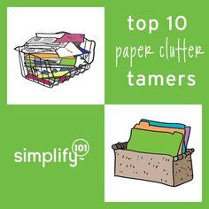 Top Ten Paper Clutter Tamers