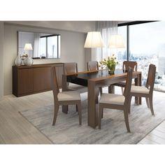 Manhattan Comfort Eastern 6-seat Dining Table