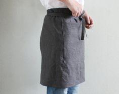 Mens Linen Half-Aprons,Charcoal