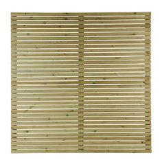 GoodHome Lemhi Contemporary Closeboard Venetian Fence panel (W)1.8m (H)1.8m Panel W, H 1, Fence Panels, Garden Gates, Venetian, Decoration, Landscape Design, Pergola, New Homes