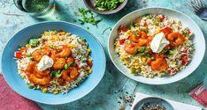 Mexican Shrimp Bowl Recipe   HelloFresh Mexican Food Recipes, Healthy Recipes, Ethnic Recipes, Healthy Food, Fresh Bowl, Mexican Seasoning, Mexican Shrimp