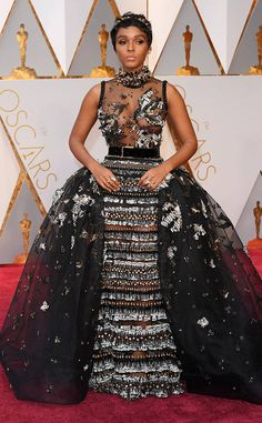 Janelle Monae from Oscars 2017: Best Dressed Women  Hats off to Elie Saab for creating and constructing such a dress. Every part is detail-packed!