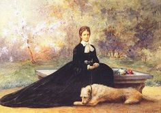 Empress Elizabeth and her dog