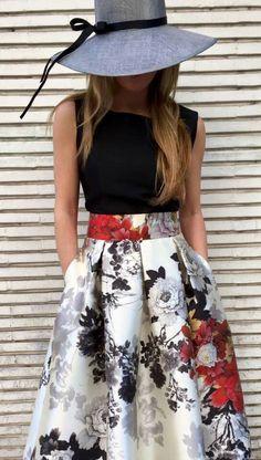 Skirt White Outfit Hats 35 Ideas Me encanta! La pamela le da un toque elegante indiscutible. Outfits With Hats, Mode Outfits, White Outfits, Trendy Outfits, Modest Fashion, Fashion Dresses, Black Women Fashion, Womens Fashion, Trendy Fashion