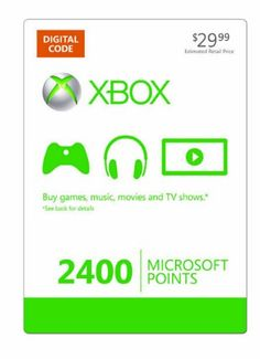 Xbox LIVE 2400 Microsoft Points [Online Game « Holiday Adds