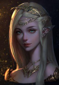 Solarus Princess, Fraya Bela Solarus Story idea for Dragons and humans, elven princess Elfa, Elfen Fantasy, Anime Fantasy, Fantasy Art Women, Beautiful Fantasy Art, Beautiful Witch, Beautiful Paintings, Fantasy Artwork, Fantasy Character Design
