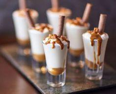 Boozy caramel mini shakes