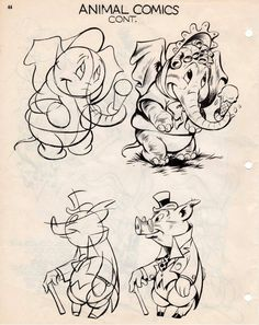 The Know-How of Cartooning by Ken Hultgren Cartoon Sketches, Animal Sketches, Cartoon Styles, Cartoon Art, Animal Drawings, Art Drawings, Character Drawing, Character Design, Cartoon Drawing Tutorial