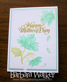 The Buzz: Persian Motifs for Mother's Day. Watercolored with Stampin' Up! inks. More details on my blog. Click the pic!