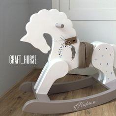 Лошадка-качалка из дерева