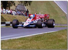 Andrea de Cesaris Ligier Renault JS23 F1. 1984 British GP Brands Hatch