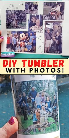 Make a waterproof photo tumbler with sublimation paper and a Cricut mug press. Easy and sentimental gift idea for Mom, Dad, Grandma, Grandpa, anyone! Diy Tumblers, Personalized Tumblers, Creative Homemade Gifts, Diy Gifts, Cool Diy Projects, Projects To Try, Ozark Tumbler, Sublimation Paper, Sentimental Gifts