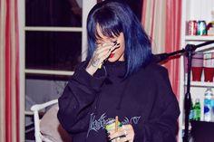 Rihanna Vetements logo hoodie