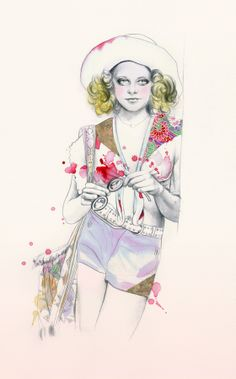 jodie foster in taxi driver drawing : movie beauties by natalia sanabria