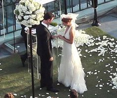 Colin Hanks and Samantha Bryant were married at the London West Hollywood Hotel on May 8, 2010.    Photo: Flynet Pictures