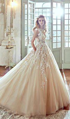 Featured Dress: Nicole Spose; Wedding dress idea.