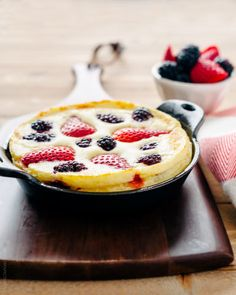 Mixed Berry Dutch Baby Pancakes | www.kitchenconfidante.com  Perfect for lazy weekends!