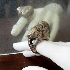 Beaver Ring by PocketandSpark's Etsy.