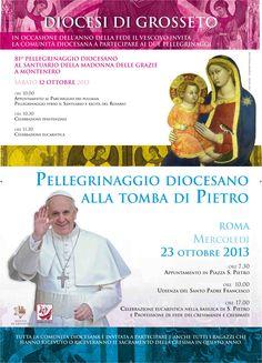 Manifesto 50x70 cm realizzato per la Diocesi di Grosseto in occasione del pellegrinaggio a Roma di ottobre - C&P ADVER
