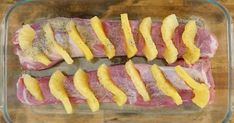 She inserts slices of pineapple into her pork tenderloin, then she adds something else and it's absolutely delicious! Ham Recipes, Dinner Recipes, Pineapple Slices, Filets, Pork Loin, Menu Planning, Main Dishes, Sausage