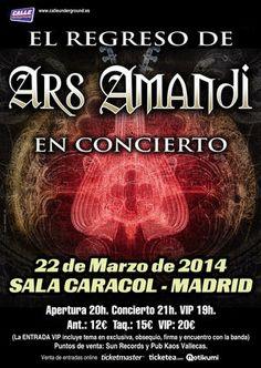 Entradas para Ars Amandi en Madrid el 22 de marzo 2014 en notikumi