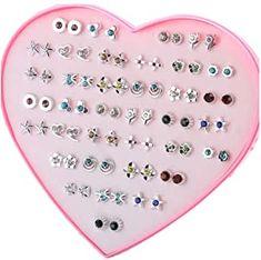 Diy Earrings Studs, Kids Earrings, Cute Earrings, Christmas Party Favors, Christmas Gifts For Kids, Rainbow Corn, Hello Kitty Birthday Cake, Unicorn Rooms, Disney Princess Dolls