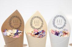 Conos de confeti de boda Boho Pack de 5