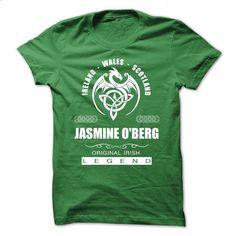 Jasmine OBerg - Original Irish - #tshirt bemalen #tshirt kids. CHECK PRICE => https://www.sunfrog.com/Names/Jasmine-OBerg--Original-Irish.html?68278
