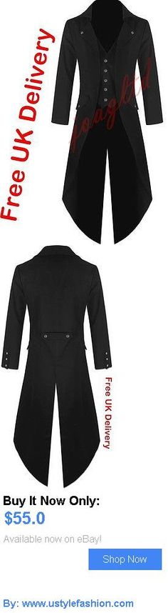Men vintage clothing and shoes: Mens Steampunk Tailcoat Jacket Black Gothic Vtg Victorian Coat/ BUY IT NOW ONLY: $55.0 #ustylefashionMenvintageclothingandshoes OR #ustylefashion