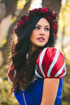 Dress: halloween disney princess flower crown halloween costume costume snow white
