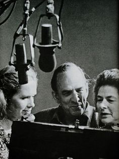 "Liv Ullman, Ingmar Bergman and Ingrid Bergman (no relation) during the filming of 'Autumn Sonata', 1978. Frustrated that Ingmar Bergman didn't give her straight direction, which she was used to in Hollywood, Ingrid Bergman said that ""I wanted to hit him!""  <3"