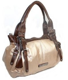 brown & cream purse