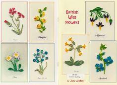 Quilled British Wild Flowers Booklet Jane Jenkins www.customquilling.com