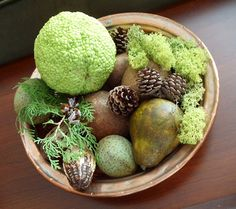 Hedge Apples for Fall Decor