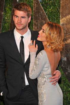 Miley Cyrus and Liam Hemsworth...my favorite; such a good looking couple :) congrats on the engagement!