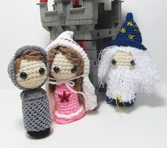 Medieval Amigurumi Finger Puppets Castle Theme Crochet by Starfall, $36.00