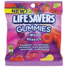Lifesavers Wild Berries Gummies 3 6 oz Bag Pack of 1 Candy Recipes, Snack Recipes, Yummy Snacks, Lifesaver Candy, Chocolate Covered Raisins, Old Candy, Candy Brands, Chewy Candy, Mini Donuts