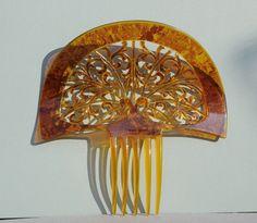 Vintage Faux Tortoiseshell Comb Spanish Peineta Mantilla Hair Ornament