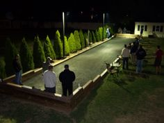 Click here to return to Camanooch's Bocce Court... This step by step page is great!  I LOVE the lights for night time play!