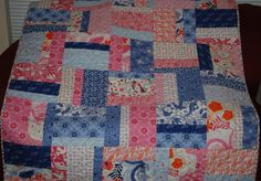 Daydreaming Baby Girl or Toddler Girl Quilt by RedTailRoadQuilts