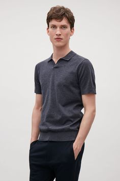 COS | Buttonless polo shirt