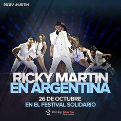 *Ricky Martín* 26 de Octubre // Parque de La Ciudad de Bs As  Producto Exclusivo de Travel Fest SOLO 150 LUGARES DISPONIBLES...  *ENTRADAS SELECCIONADAS NUMERADAS (CONSULTAR) *ENTRADAS GENERALES DE PIE (CONSULTAR)  El pack incluye: traslado, almuerzo y entrada al festival.