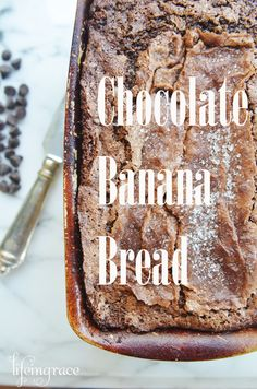 Chocolate and bananas and chocolate chips, its a delicious combination!!