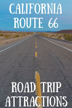 Travel the World: What to see and things to do on a California Route 66 road trip, including Route 66 attractions. Route 66 Attractions, California Attractions, Route 66 Road Trip, Travel Route, Us Road Trip, Road Trip Hacks, California Travel, Travel Usa, Travel Tips